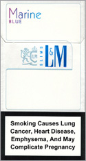L&M MIXX BLue Marin Super Slims Cigarettes