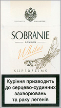 Sobranie Super Slims Whites 100's Cigarettes