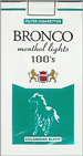 BRONCO LIGHT MENTHOL 100
