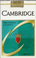 CAMBRIDGE LIGHT MENTHOL KING